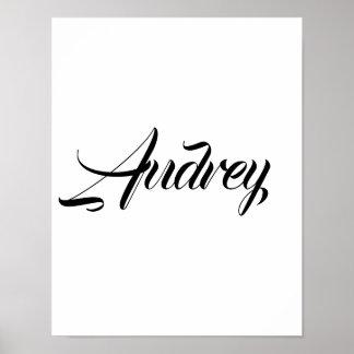 Pôster Audrey