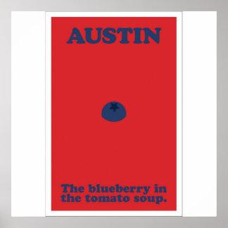 Pôster Austin o mirtilo na sopa do tomate