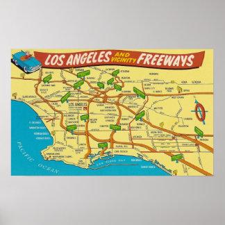 Pôster Autoestrada de Los Angeles