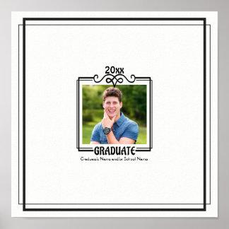 Poster Autógrafo da lembrança da graduação