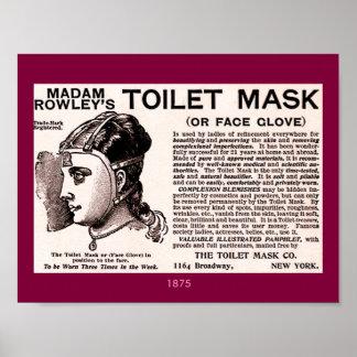 Poster Auxílio 1875 da beleza do vintage: Máscara do