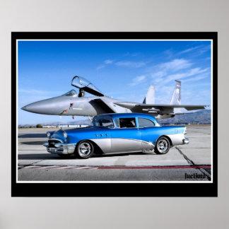 Poster Avião de combate 1955 clássico especial do carro
