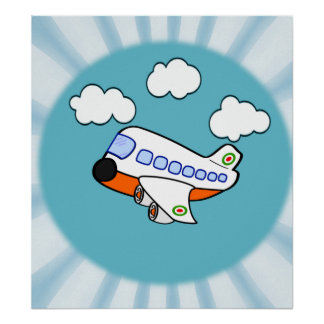 Poster Avião dos desenhos animados