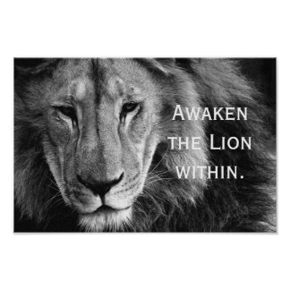 Pôster Awaken Lion the within - posteres