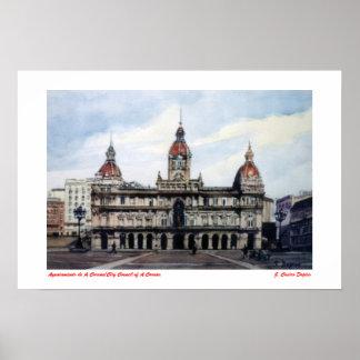 Poster Ayuntamiento de A Coruña/City Council of A Coruña