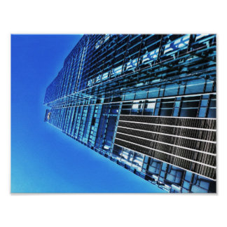 Poster azul da construção industrial A4