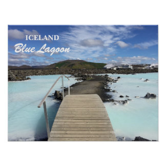 Poster azul da lagoa