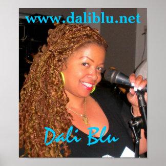 Poster azul de Dali