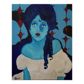 Poster Azul de Evelyn