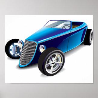 Poster azul do hot rod pôster