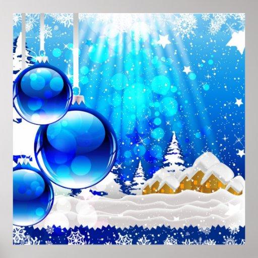 Poster azul do inverno