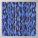 Poster azul & preto quadrado do fundo da camuflage