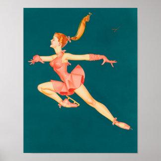 Poster Bailarina do patinador de gelo