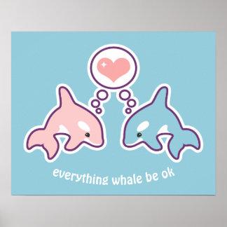 Pôster Baleias bonitos