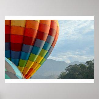 Poster Balões e montanhas