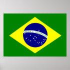 Poster Bandeira de Brasil