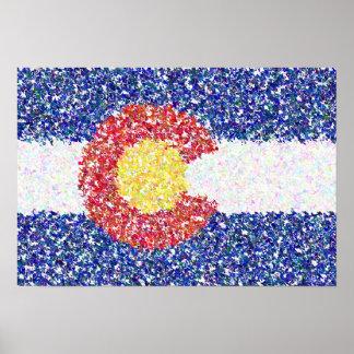 Poster Bandeira de Colorado