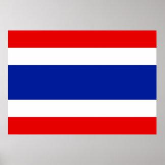 Pôster Bandeira de Tailândia