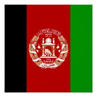 Pôster Bandeira nacional do mundo de Afeganistão