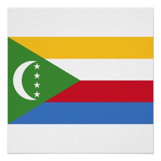 Pôster Bandeira nacional do mundo de Cômoros