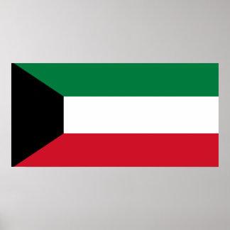 Pôster Bandeira nacional do mundo de Kuwait