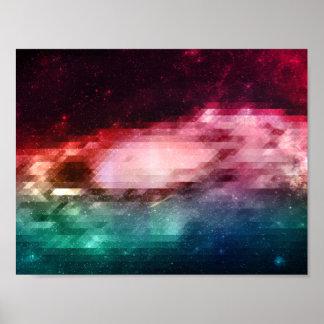 Poster básico dos triângulos do espaço do