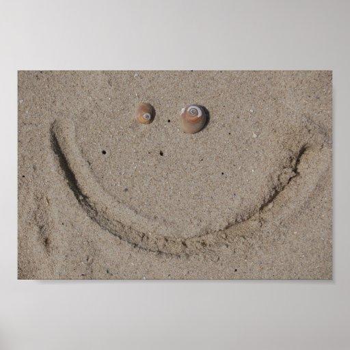 Poster Beachy do sorriso