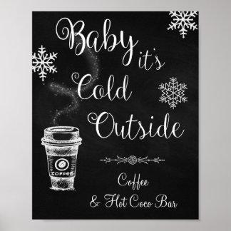 Pôster Bebê é sinal exterior frio do casamento