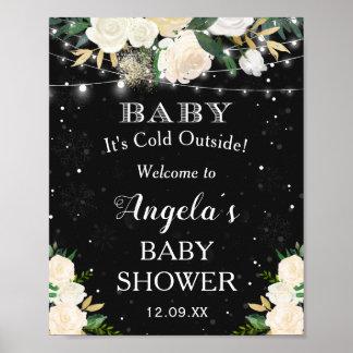 Poster Bebê seu sinal de boas-vindas exterior frio do chá