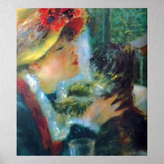 Poster Belas artes do impressionismo de Renoir da menina