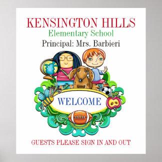 Poster bem-vindo da escola