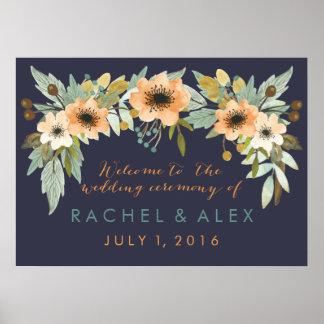 Poster bem-vindo de florescência feito sob pôster