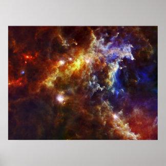 Poster Berçário estelar na nebulosa do Rosette