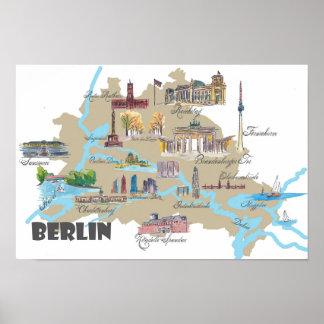 Pôster Berlim destaca o mapa