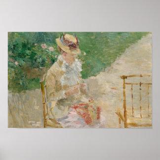 Pôster Berthe Morisot - confecção de malhas da jovem