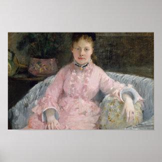 Pôster Berthe Morisot - o vestido cor-de-rosa