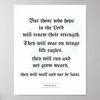 Poster bíblico, poster cristão, 40:31 de Isaiah
