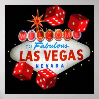 Poster Boa vinda a Las Vegas + Gráfico de vetor dos dados