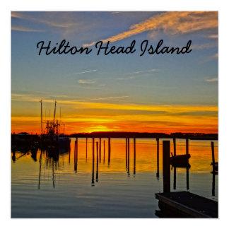 Pôster Boathouse Hilton Head da angra do crânio da