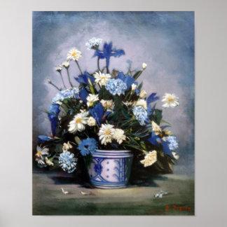 Pôster Bodegón de flores/Still life of flowers