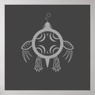 Pôster Bolhas da tartaruga de mar