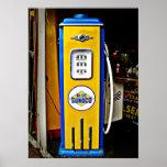 Poster Bomba de gás azul do vintage de Sunoco