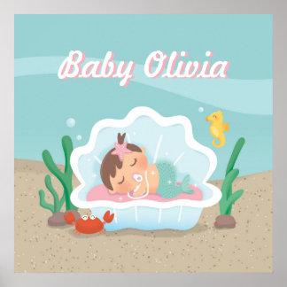 Poster bonito da decoração do berçário do bebé da