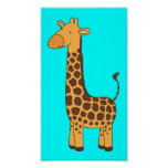 Poster bonito do girafa