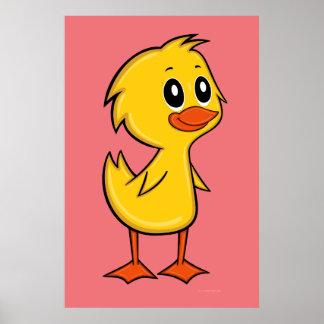 Poster bonito do pato dos desenhos animados