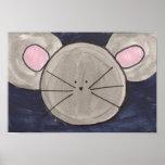 Poster bonito do rato da aguarela