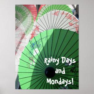 Poster bonito dos parasóis