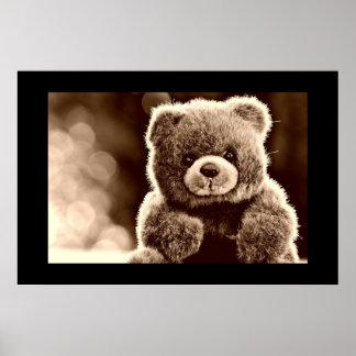 Poster bonito, peluches do urso de ursinho