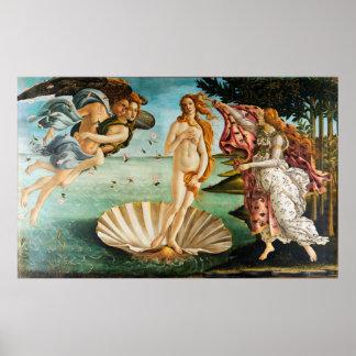 Poster BOTTICELLI - O nascimento de Venus 1483
