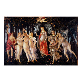 Poster BOTTICELLI - Primavera 1482